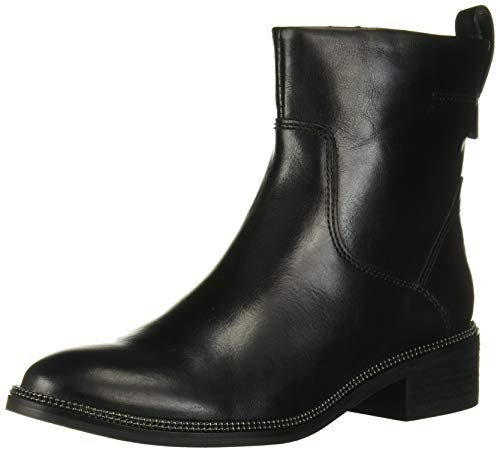 Franco Sarto Women's Brindle Chelsea Boot, Black Leather, 5.5 M US
