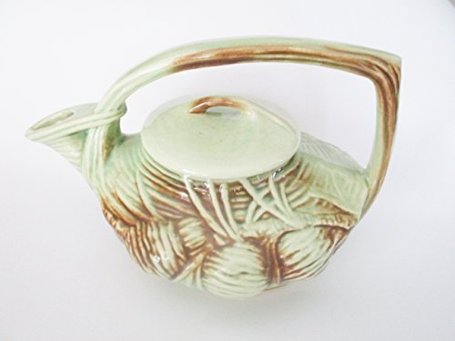 (Antique McCoy Green ?Pinecone Teapot)