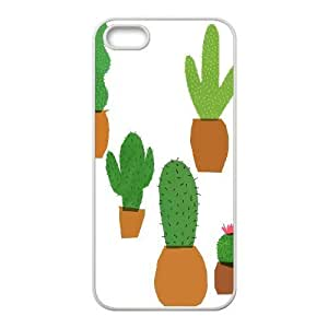 catus plants cute pattern For SamSung Galaxy S6 Phone Case Cover White