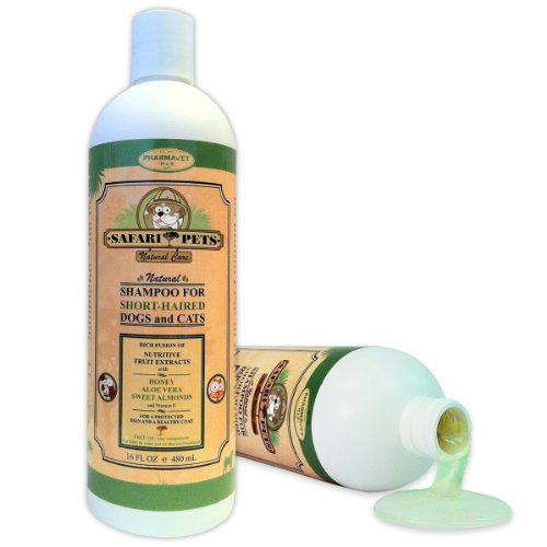 Short Haired Dogs and Cats. All Natural Dog Shampoo for Dry, Itchy, Sensitive Skin. Sulfate and Paraben Free. 16oz, My Pet Supplies