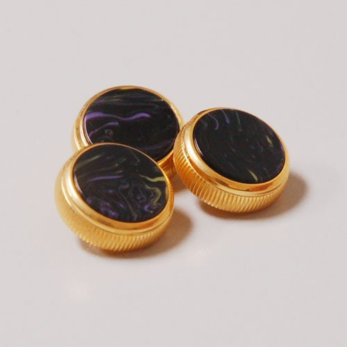 BACH Stradivarius Trumpet Finger Gold-Plated Buttons Set of 3 Van Gogh Nights