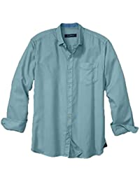 Tommy Bahama Denim Mens Twill Factor L/S Button Upx Cloud - Shirts & Tops