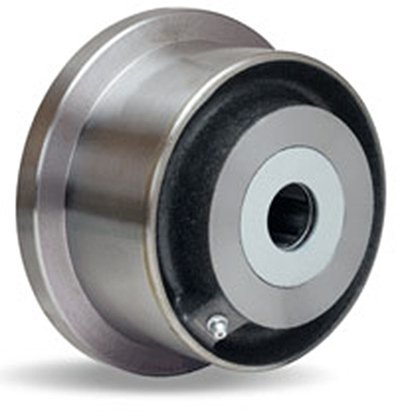 Single Flanged Track Wheel 5'' Diameter x 2-1/16'' Face x 3-1/4'' Hub Length with 1'' Roller Bearing