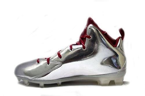 Tacchetti Da Calcio Adidas Mens Speciali Sm Crazyquick 2.0 Mid (10.5, Platino / Power Red / Power Red)