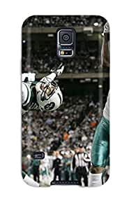 Anti-scratch And Shatterproof Miamiolphins Phone Case For Galaxy S5/ High Quality Tpu Case