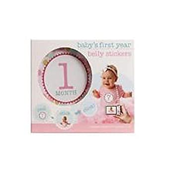 Babys first year belly stickers pink