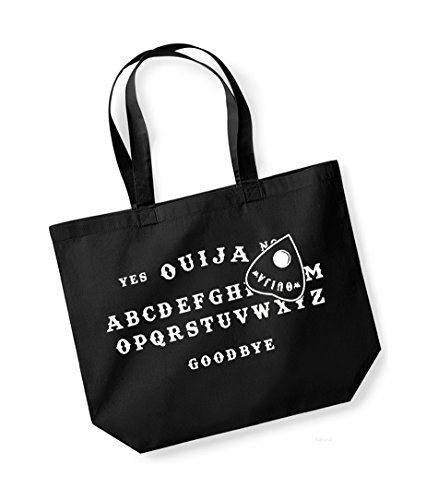 Cotton white Print Ouija Black Canvas Board Tote Unisex Bag Slogan Kelham tvwdq0AA