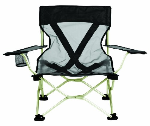 TravelChair Frenchcut Steel Folding Beach And Camp Chair, Black