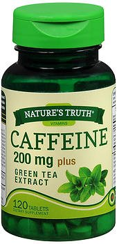 Nature's Truth Caffeine 200 mg Plus Green Tea Extract Tablets - 120 ct, Pack of 3