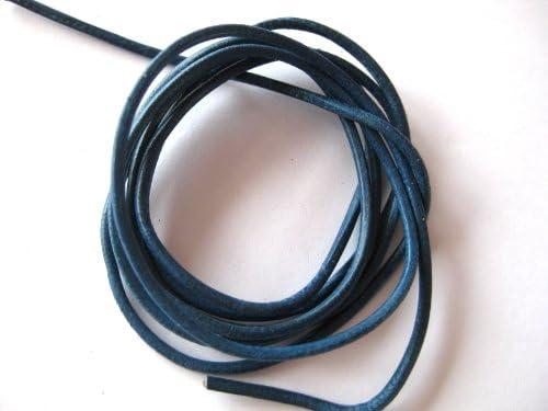 Lederband blau 1 m Ziegenleder