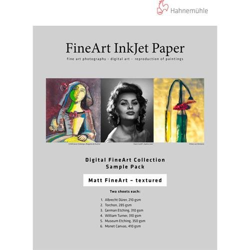 Hahnemuhle Matte FineArt Textured Inkjet Paper Sample Pack, 13x19'', DIN A3+, 10 Sheets