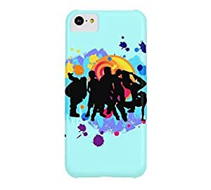 Dance Crew iPhone 5c Celeste Barely There Phone Case - Design By Humans