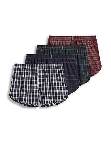 Jockey Men's Underwear Tapered Boxer - 4 Pack, tartan, M Jockey Boxer Underwear
