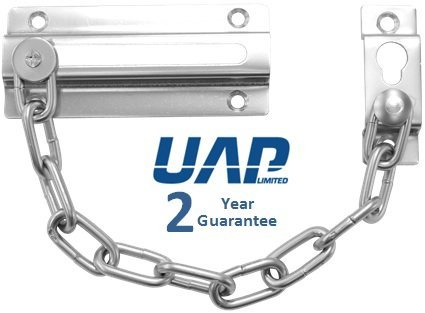 Extra Strong Sliding Door Chain in Satin Silver UAP