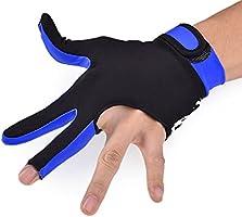 DSstylesSnooker Guante de Lycra Elástica 3 Dedos de Piscina y Billar Snooker Guante 1 Pieza (talla M) - Azul: Amazon.es: Deportes y aire libre