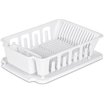 kitchen sink drainer trays sterilite 06368004 white small ultra sink set 5764