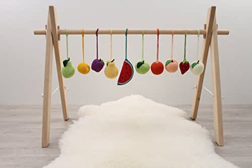 Amazon Com Wide Wooden Baby Gym Frame Foldable Play Gym