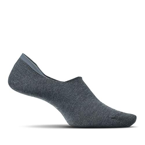 Feetures - Men's Hidden Socks - for Everyday Wear - Grey - Size Large