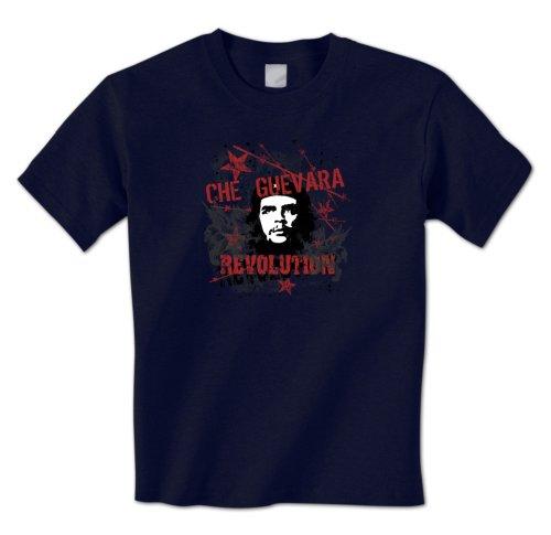 Che Guevara Revolution - El Che Guerrilla Cuban Socialist Mens T-Shirt XL Navy