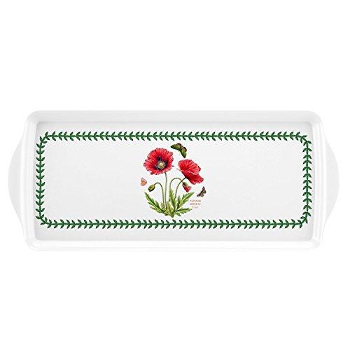 Portmeirion Botanic Garden Poppy Sandwich Melamine Handled Tray
