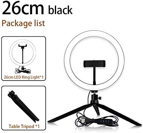 10-inch LED Ring Light with Tripod Stand Desk Makeup Selfie