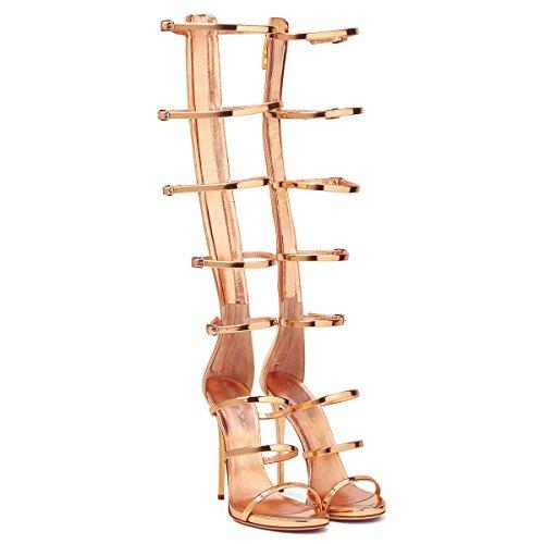 XUE Women's Shoes PU Summer Comfort Sandals Walking Shoes Stiletto Heel Pointed Heel Wedding/Party & Evening/Dress Sandals/Slippers & Flip-Flops Formal Business Work Wedding A XQqPVRMEeb