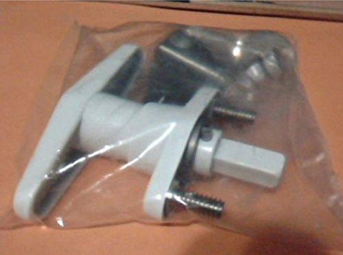 USA Premium Store T-Handle Shutter Lock Kit, Accordion Hurricane Storm Shutter Lock, White