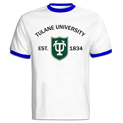 Men's Tulane University Established 1834 Baseball T-shirt RoyalBlue ()