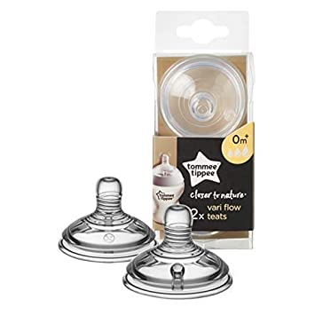 Tommee Tippee Baby Bottle Teat Vent Closer to Nature Teat Medium Flow