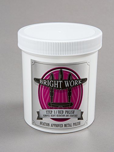 BrightWork Polish - Step 1 - Red Polish - Metal Polish (16 Ounce)