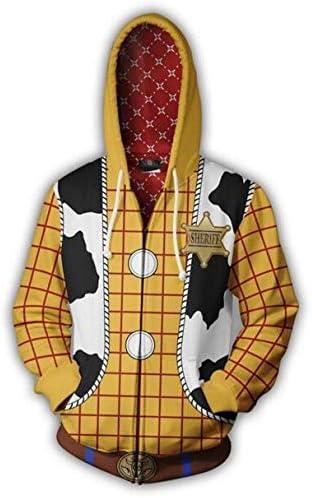 ウッディ Woody カウボーイ人形 パーカー コスプレ 衣装 仮装 cosplay コスチューム 文化祭 ハロウイン 男女兼用 (LL)