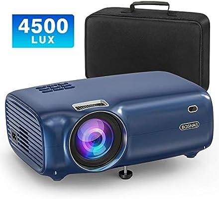 BOSNAS Proyector Full HD 1080P LCD 4500 Lúmenes Mini Proyector ...