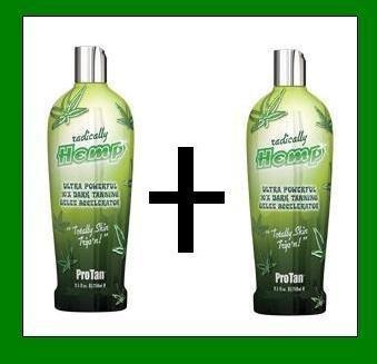 2 X Pro Tan Radically Hemp Tanning Lotion Sunbed Cream by Pro (Pro Sun Tanning Beds)