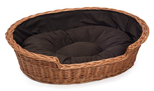 - Prestige Wicker HnadMade Wicker Cat Dog Bed Basket (Medium)