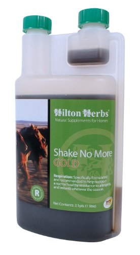 Image of Hilton Herbs Shake No More Gold Allergy Support Supplement for Horses, 2.1pt Bottle