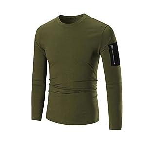 Men Blouse,IEason 2017 Hot Sale! Men's Long Sleeve Hoodie Hooded Sweatshirt Tops Jacket Coat Outwear (L, Army Green)