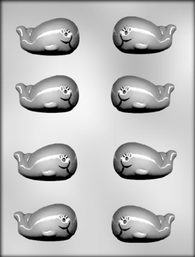 CK Products 2-1/2-Inch Whale Chocolate Mold (Nautical Chocolate Molds)