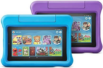 Fire 7 Kids Edition Tablet 2-Pack, 16 GB, Purple/Blue Kid-Proof Case