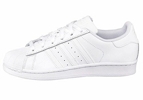 Unbekannt - Zapatillas de Piel para hombre blanco Weiß 40 blanco/blanco