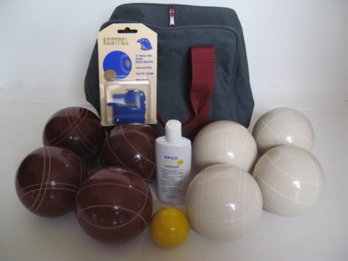 Premium Quality Basic Epco Bocce Package - 110mm Red and White Balls, Quality Nylon Bag, Meas... by Epco