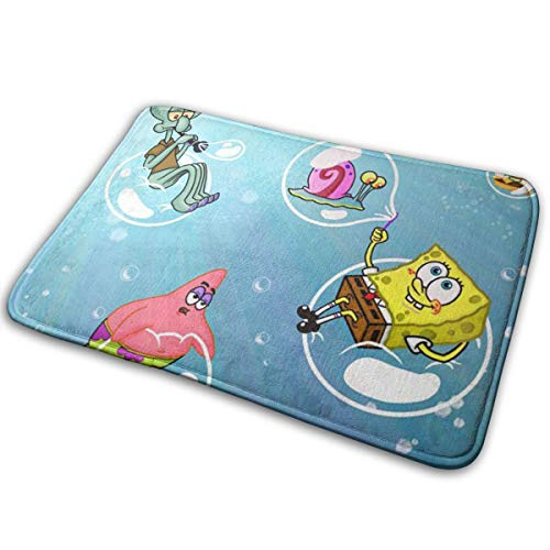 Duwamesva Doormat Soft Carpet Entrance Mat Stylish Spongebob Squarepants Design for Patio, Front Door, Bathroom, Balcony (Bathroom Rugs For Bob Sponge)