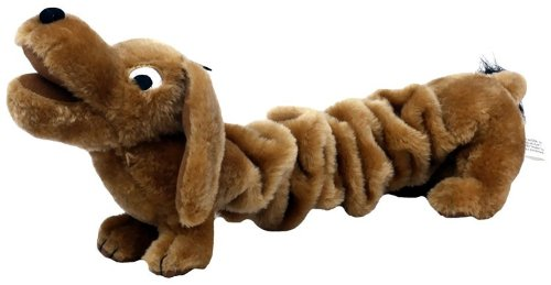 Kyjen Bungee Wiley the Wiener Dog Plush Dog Toy, My Pet Supplies