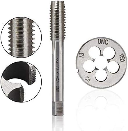 HWW-Drills, 1PC UNC UNF UNEF UN Right Hand Thread Tap And Die Set 2pcs HSS Hand Tap Drill Bit 5/16 3/8 7/16 1/2 5/8 3/4-18 20 24 28 40 (Size : UNF 3l4 16)