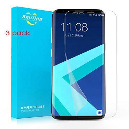 Price comparison product image Galaxy S8 Plus Screen Protector,Smiling [3 pack] TPU [Full Coverage][Case Friendly][Anti-Scratch] [Bubble free ]Screen Protector for Galaxy S8 Ultra Clear Anti-Bubble Film[NOT WET APPLIED]