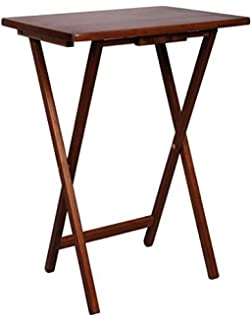 Amazon af folding desk tray shape tv table sofa table watch pj wood tv tray table in walnut color watchthetrailerfo