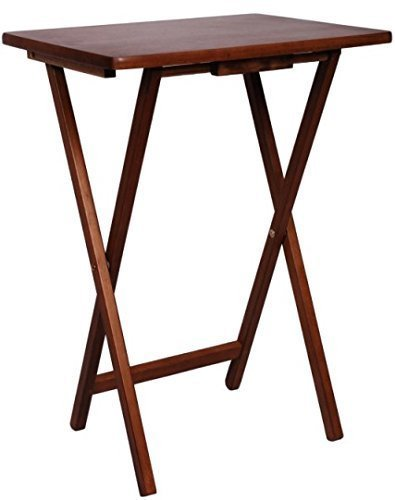 PJ Wood TV Tray Table in Walnut Color by PJ Wood