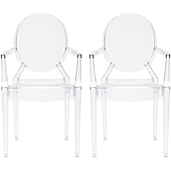 Poly And Bark Em 103 Clr X2 Dining Chair (Set Of 2), NA, Clear