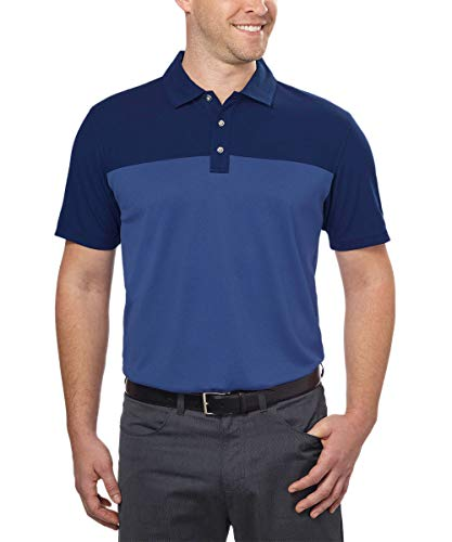Bolle Men's Colorblock Short Sleeve Performance Polo (X-Large, Navy/Blue) (Bolle Shop)