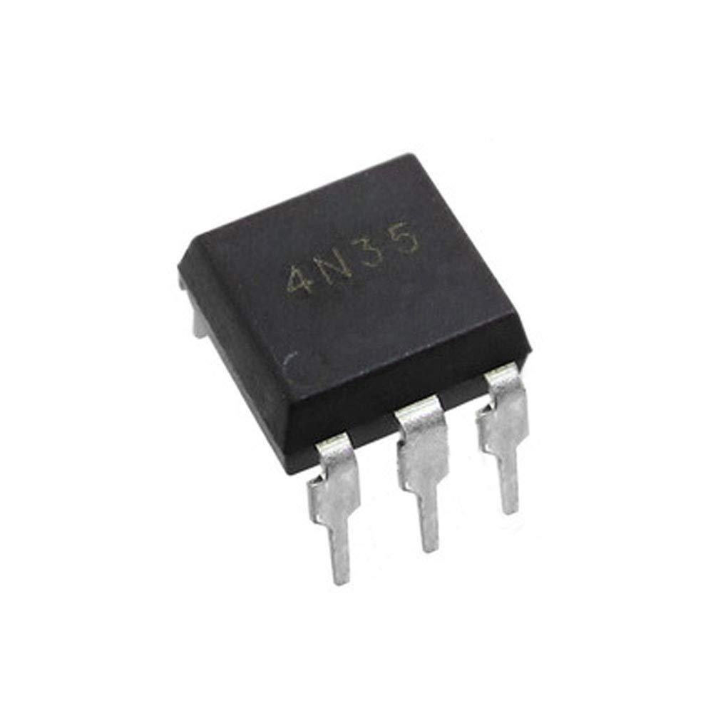 4N35 Optoisolator Transistor Base Output 3550Vrms 1 Channel 6DIP Pack of 5