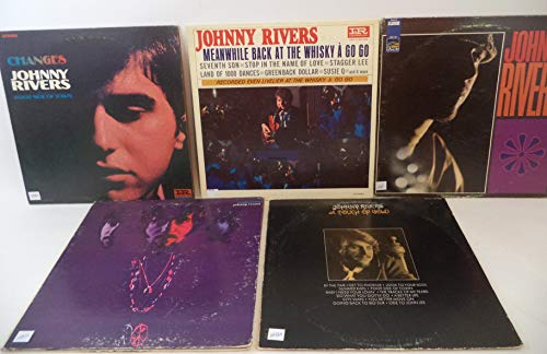 Johnny Rivers Lot of 5 Vinyl Record AlbumsMeanwhile Back at the Whisky A Go Goand more